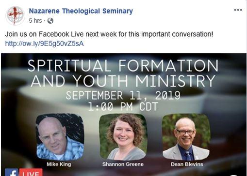 king spiritual formation seminar
